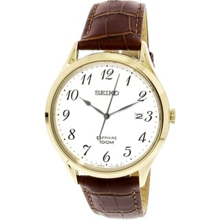 Link to Seiko Men's SGEH78 Sapphire Brown Leather Watch Similar Items in Men's Watches