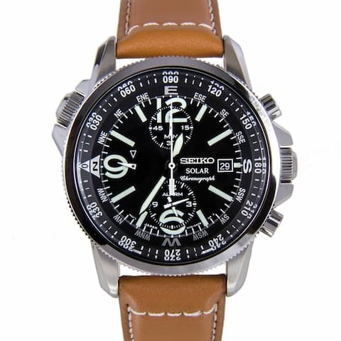 Seiko Men's SSC081 Prospex Chronograph Brown Leather Watch