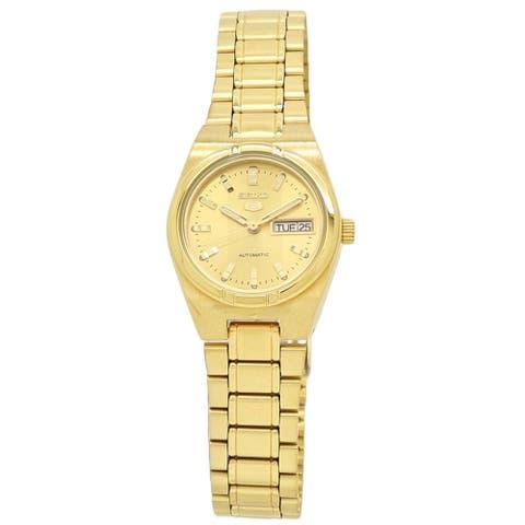 Seiko Women's SYM600 Seiko 5 Gold-Tone Stainless Steel Watch