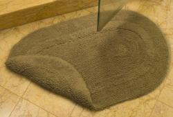 Safavieh Spa Collection Beige Reversible 2,400-Gram Cotton Bath Mats (Set of Two)