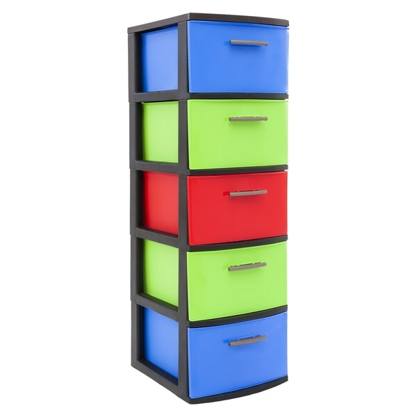 MQ ECLYPSE Multicolor 5-Drawer Storage Cabinet