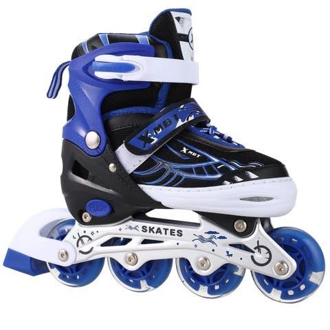New Unisex PU Wheel PP Material Indoor Outdoor Roller Children Tracer Adjustable Inline Skate