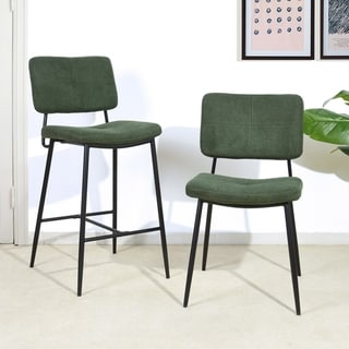 Link to Furniture R Counter Height 27-inch Bar Stool Dark Green (Set of 2) Similar Items in Dining Room & Bar Furniture