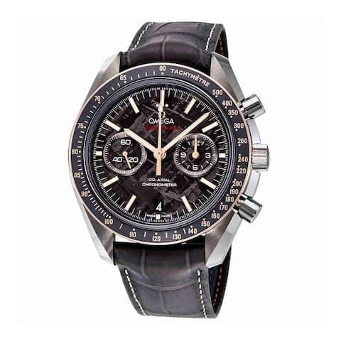 Omega Men's 311.63.44.51.99.002 'Speedmaster Moonwatch' Chronograph Grey Leather Watch