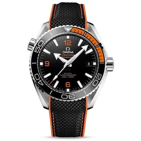 Omega Men's 215.32.44.21.01.001 'Seamaster Planet Ocean' Two-Tone Rubber Watch