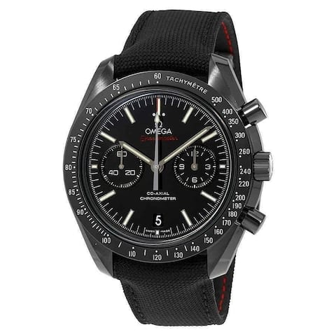 Omega Men's 311.92.44.51.01.007 'Speedmaster' Chronograph Black Nylon Watch