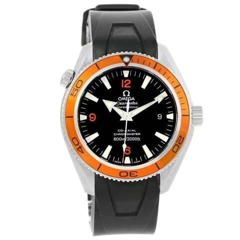 Omega Men's 2909.50.91 'Seamaster' Black Rubber Watch