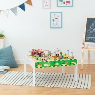 Link to Teamson Kids - Play Lab Toys Country Train and Table set - Wood Similar Items in Toy Vehicles
