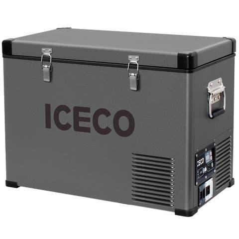 Glitzhome 45 Liter/48 Quart Portable Refrigerator Freezer