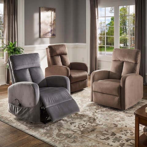 Thane Power Velvet Power Lift Chair by iNSPIRE Q Classic