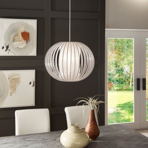 Heming Grey Yarn Medium Pendant Light by iNSPIRE Q Modern