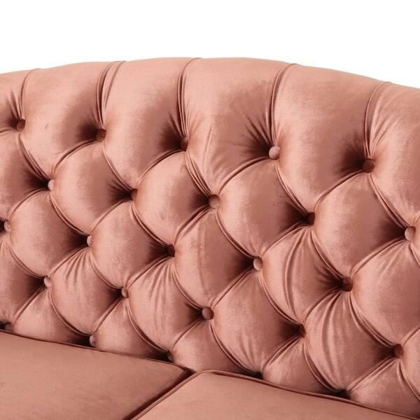 Peachy Shop Antoine Traditional 3 Seater Button Tufted Velvet Sofa Inzonedesignstudio Interior Chair Design Inzonedesignstudiocom