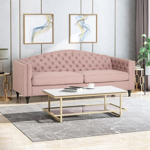 Antoine Traditional 3-seat Button-tufted Fabric Sofa by Christopher Knight Home