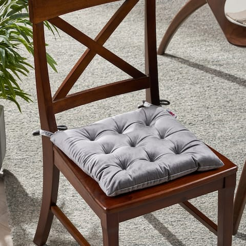 Foxhall Tufted Velvet Dining Chair Cushion by Christopher Knight Home