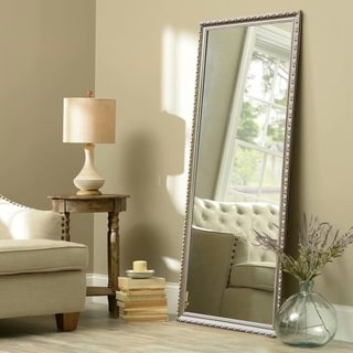 Retro Rectangular Full-Length Decorative Floor Mirror With Bracket - 64.17 X 21.26