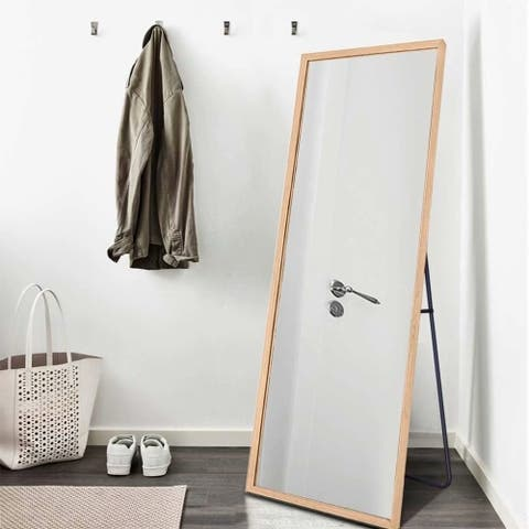 NeutypeChic Solid Wood Full Length Floor Mirror Leaning Hang or Stand - 64.17 X 21.26