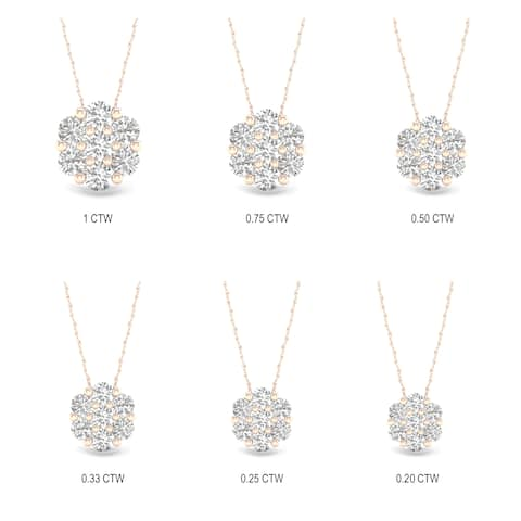 cff9628b63624 Buy .5 to 1 Carats Diamond Necklaces Online at Overstock | Our Best ...