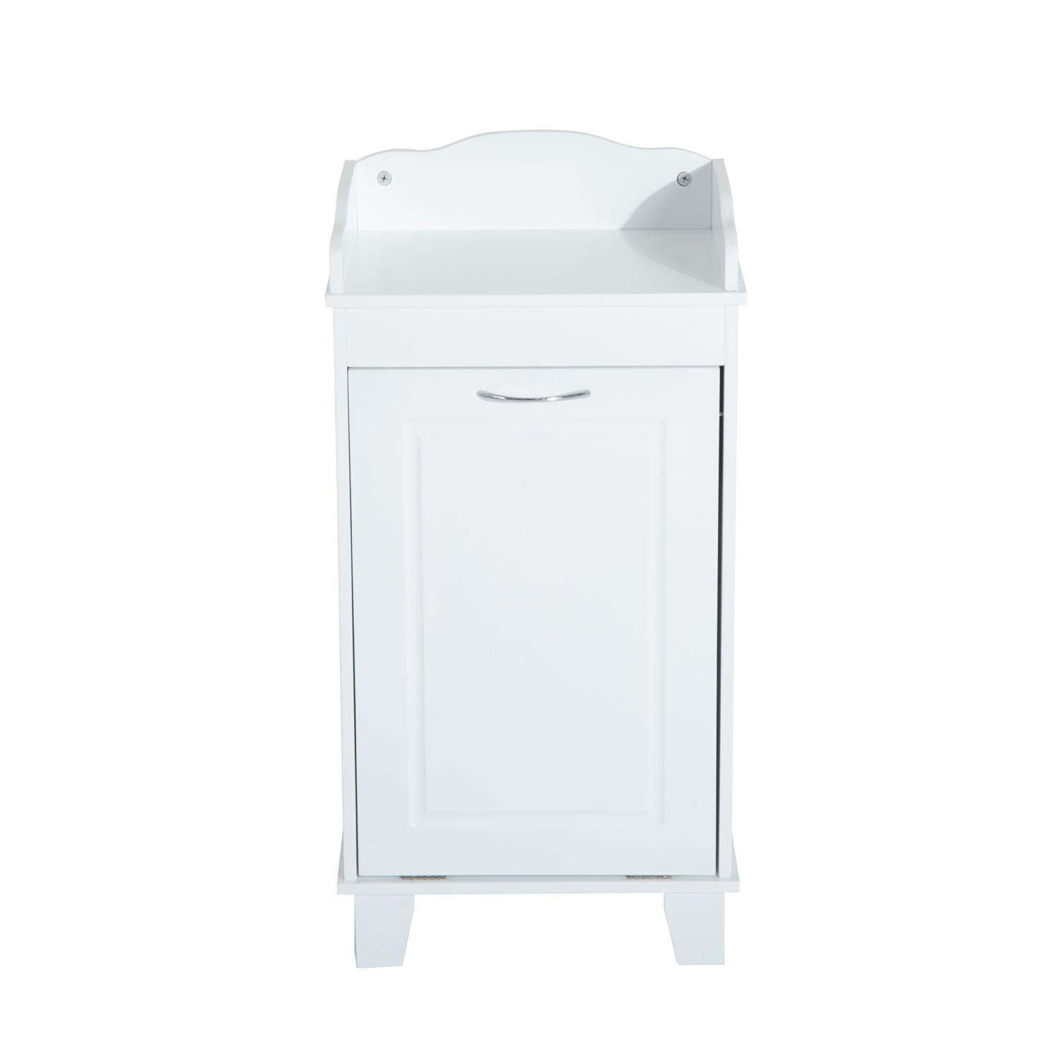 Homcom Wooden Bathroom Laundry Hamper Cabinet As Is Item Overstock 29002403