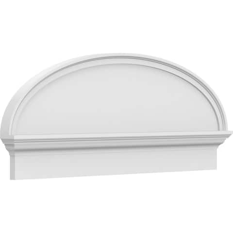 "24""W x 12-7/8""H x 2-3/4""P Elliptical Smooth Architectural Grade PVC Combination Pediment"