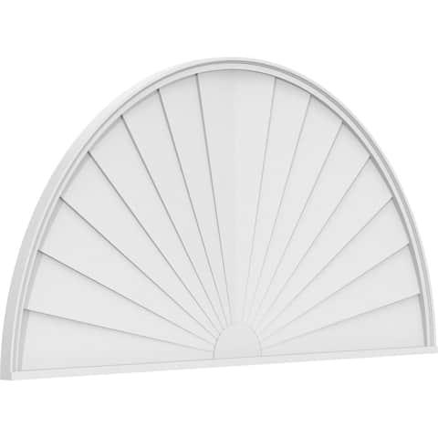 "24""W x 12""H x 2""P Half Round Sunburst Architectural Grade PVC Pediment"