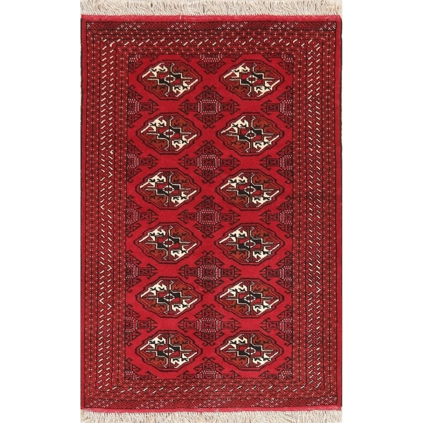 """New Oriental Hand-Knotted Rug Wool Balouch Afghan Traditional Carpet - 4'9"""" X 3'3"""""""