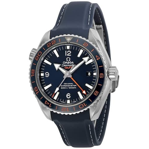 Omega Men's 232.32.44.22.03.001 'Seamaster Planet Ocean' Blue Rubber Watch