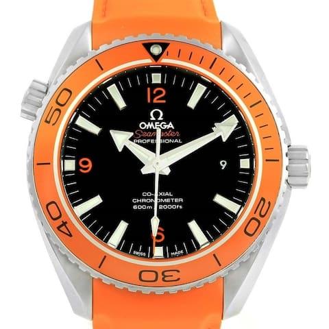 Omega Men's 232.32.46.21.01.001 'Seamaster Planet Ocean' Orange Silicone Rubber Watch