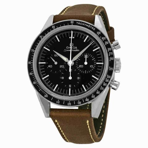 Omega Men's 311.32.40.30.01.001 'Speedmaster' Limited Edition 50th Anniversary Chronograph Automatic Brown Leather Watch