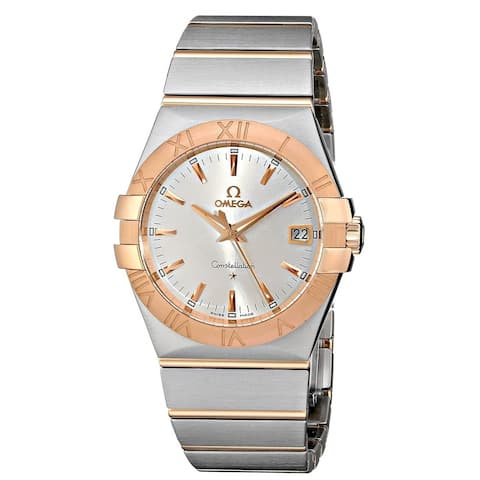 Omega Unisex 123.20.35.60.02.001 'Constellation' Two-Tone Stainless Steel Watch