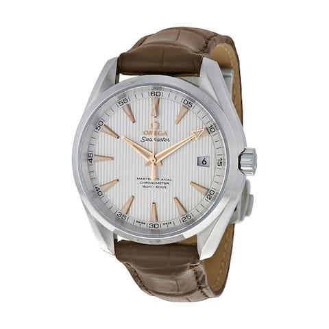 Omega Men's 231.13.42.21.02.003 'Seamaster Aqua Terra' Brown Leather Watch