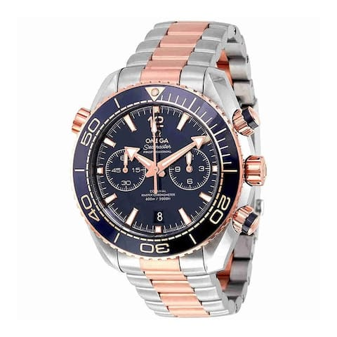 Omega Men's 215.20.46.51.03.001 'Seamaster Planet Ocean' Chronograph Two-Tone Stainless Steel Watch