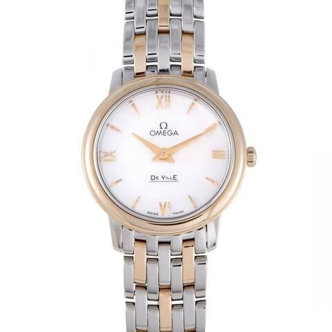 Omega Women's 424.20.27.60.05.002 'De Ville Prestige ' Two-Tone Stainless Steel Watch