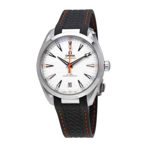 Omega Men's 220.12.41.21.02.002 'Seamaster Aqua Terra' Grey Rubber Watch