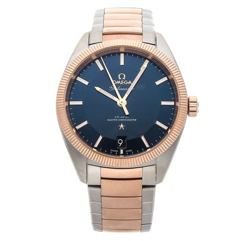 Omega Men's 130.20.39.21.03.001 'Globemaster' Two-Tone Stainless Steel Watch