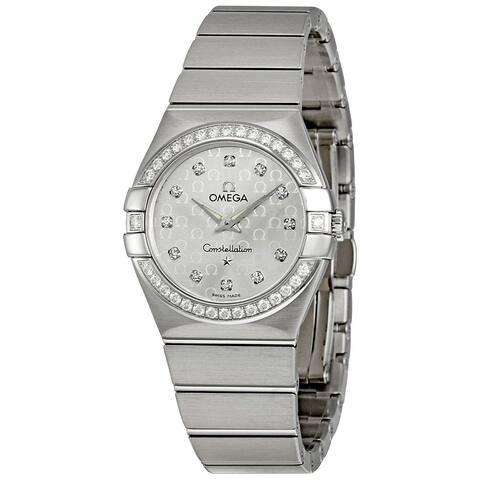Omega Women's 123.15.27.60.52.001 'Constellation' Diamond Stainless Steel Watch