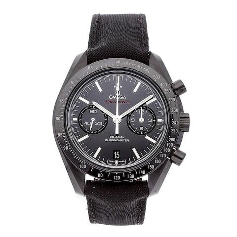 Omega Men's 311.92.44.51.01.003 'Speedmaster Moonwatch' Chronograph Black Fabric Watch