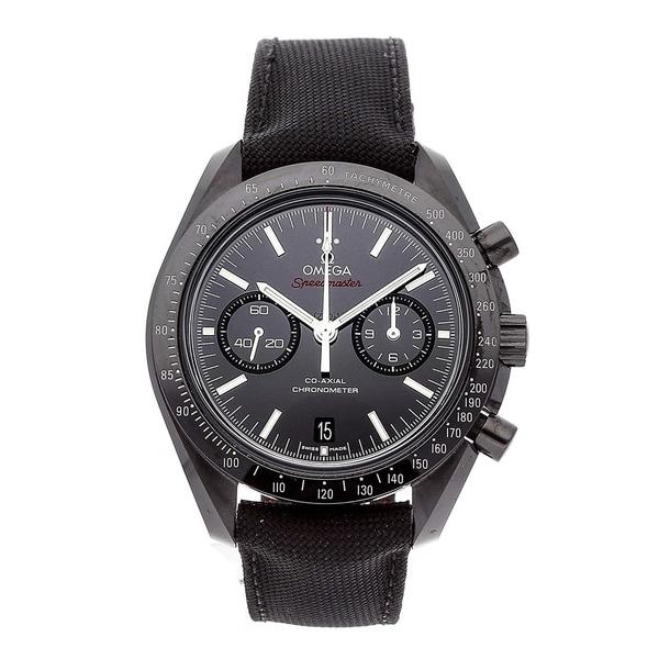 Omega Men's 311.92.44.51.01.003 'Speedmaster Moonwatch' Chronograph Black Fabric Watch. Opens flyout.