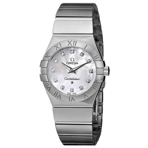 Omega Women's 123.10.27.60.55.001 'Constellation' Diamond Stainless Steel Watch