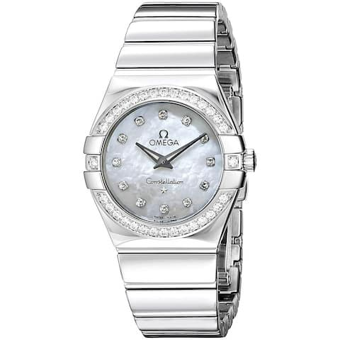 Omega Women's 123.15.27.60.55.003 'Constellation' Diamond Stainless Steel Watch