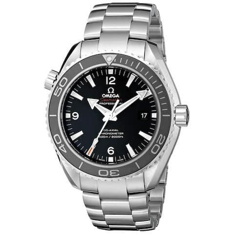 Omega Men's 232.30.46.21.01.001 'Seamaster Planet Ocean' Stainless Steel Watch