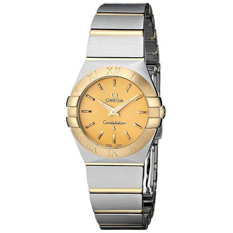 Omega Women's 123.20.24.60.08.001 'Constellation' 18kt Yellow Gold Two-Tone Stainless Steel Watch