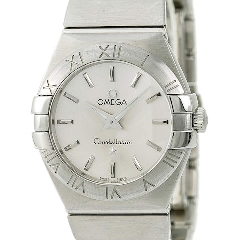 Omega Women's 123.10.27.60.02.001 'Constellation' Stainless Steel Watch