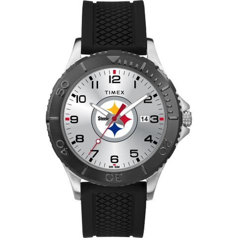 Timex NFL Tribute Collection Pittsburgh Steelers Gamer Black Men's Watch