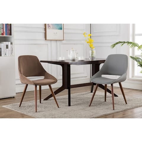 Porthos Home Fiero Fabric Dining Chairs, Suede Upholstery and Iron