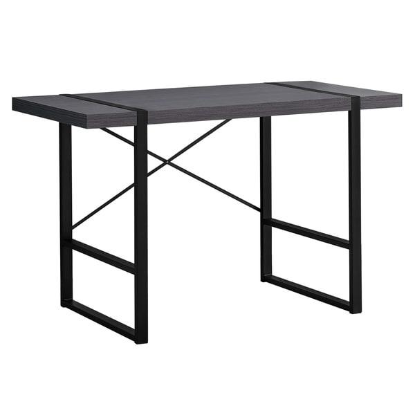 """Computer Desk - 48""""L / Grey / Black Metal"""