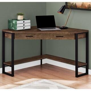 Carbon Loft DiPalo Brown Reclaimed Wood Corner Desk