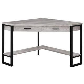 "Computer Desk - 42""L / Grey Reclaimed Wood Corner"
