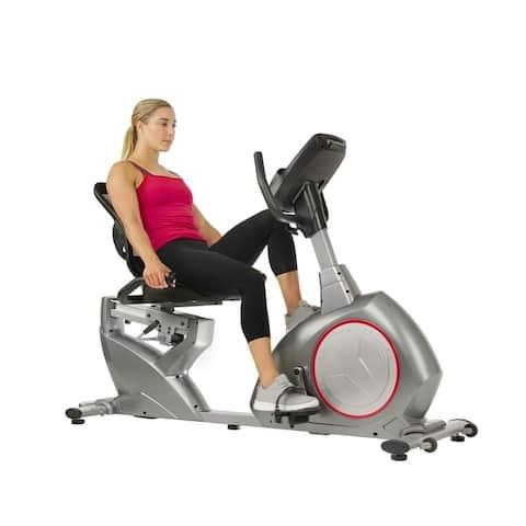 Sunny Health & Fitness Powersync Self-Powered Recumbent Bike