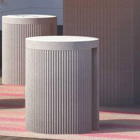 Wave Concrete Stool - N/A