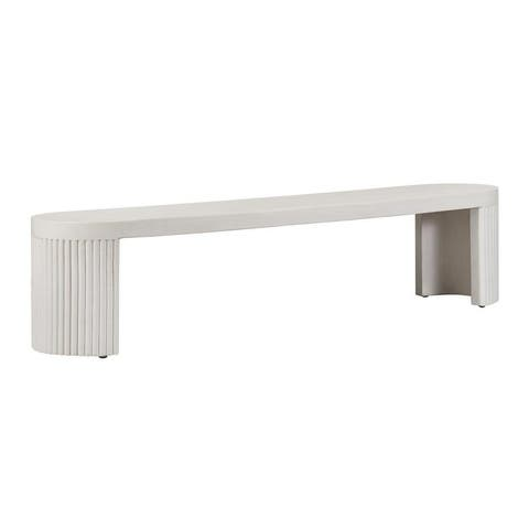 Wave Concrete Bench - N/A